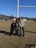 Foto z hřiště na rugby s Lucou, kam jsme se chodili dívat