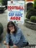 Fotografie z města s pozvánkou na fotbal