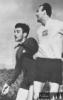 15. březen 1961 - domácí remíza s Barcelonou - Hledík bojuje s barcelonským Villaverdem
