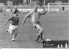 14.září 1974 - setkání po letech - 45-letý Hledík v souboji s italským útočníkem - Stará garda Hradce proti týmu italských amatérů z Cornigliano Genova