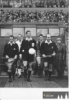 15. 3. 1961 - pražská odveta proti Barceloně - uprostřed hlavní rozhodčí Lo Bello z Itálie