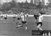 1980 - Kvalifikace doma s Teplicemi - u míče Miloš Mejtský, za míčem schován objev sezóny Richard Veverka, vzadu vlevo kontroluje situaci Hůlka.