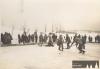 Kluziště SK Petrof na rybníku Plachta v zimě na přelomu let 1934 a 1935 (PT)