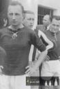 rok1943- zleva Kocour, brankář Meduna a Čabaňa - tým SK HK na Spartě Kutná Hora - 1943