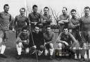 Podzim 1945 - SK Kostelec nad Orlicí - Hajduk Split 0-2 - Kocour stojí třetí zprava