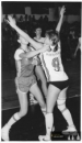 Romana Doleželová - na podzim 1987 již v 1. lize - vzadu Anna Součková-Kozmanová