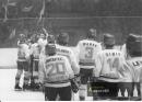 Radost po vstřeleném gólu Tesly proti Spartě - 1983-84
