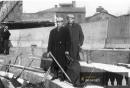 František Bulíček a Josef Šrůtek na tribuně hradeckého zimního stadiónu