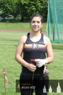 Barbora Jakubcová - při atletické lize v Hradci Králové - květen 2017