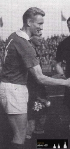 přátelský zápas SPARTAK HK - LUTON TOWN 0:1 - hráno 12.5.1960 v Hradci Králové