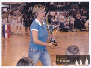 Romana Ptáčková v roce 2007 - reprezentační trenérka na turnaji ve Francii- U18