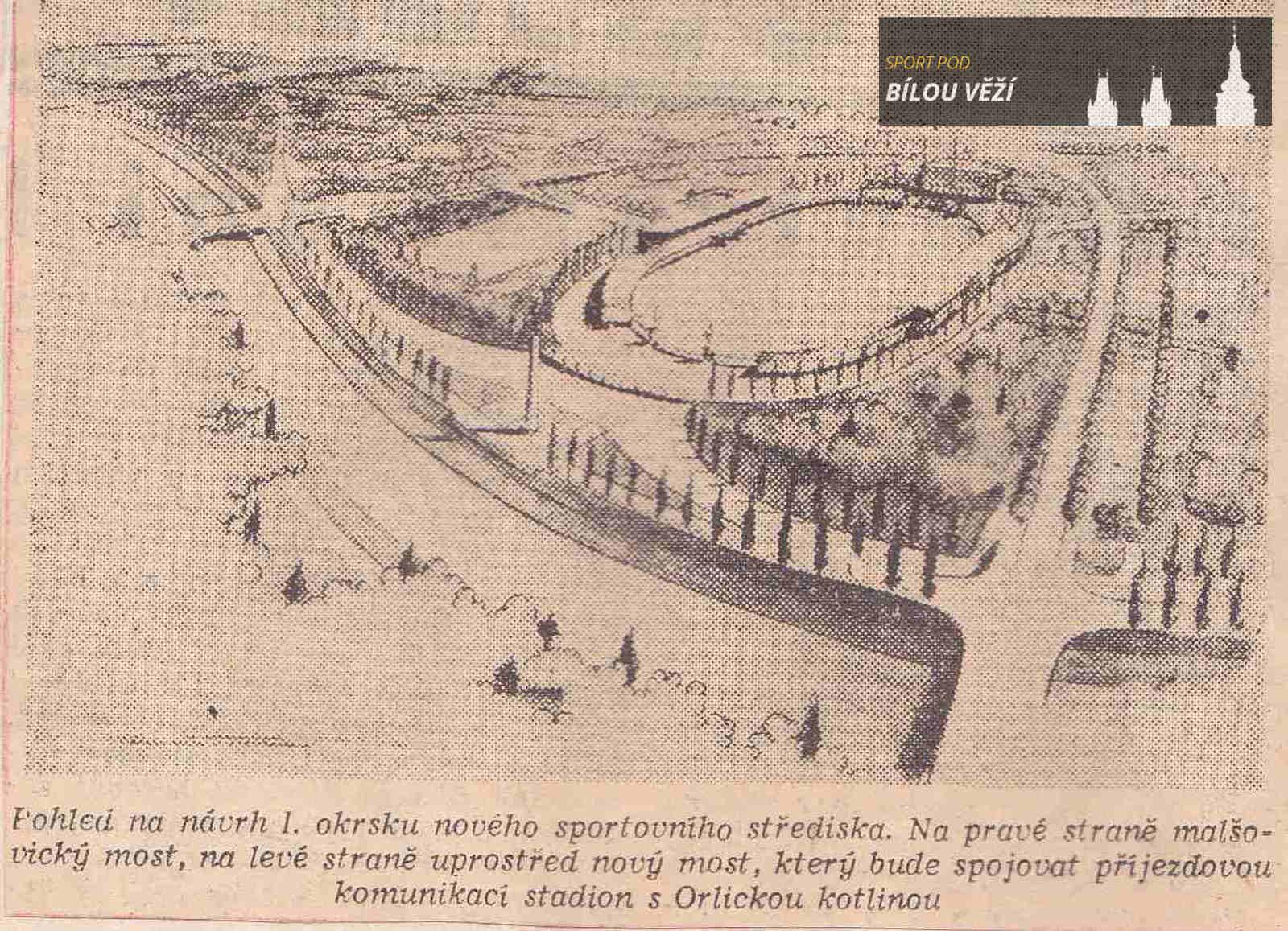První návrhy na vybudování sportovního areálu v Malšovicích z roku 1956